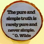 truth oscar wilde